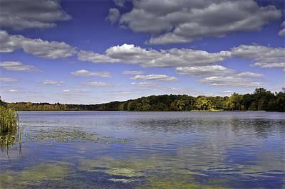 Otter Photograph - Otter Lake Michigan Reflections by LeeAnn McLaneGoetz McLaneGoetzStudioLLCcom