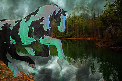 Full Moon Mixed Media - Otter Lake Phantom by Betsy Knapp