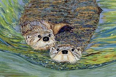 Otter Pals Art Print by Sandra Wilson