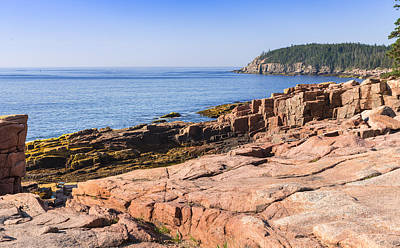 Colorful Photograph - Otter Point Shoreline by John M Bailey