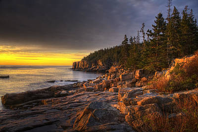 Photograph - Otter Point Sunrise by Jim Dollar