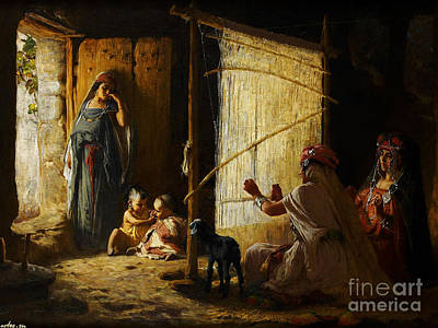 Gods Sunlight Painting - Ottoman Daily Life Scene by Celestial Images