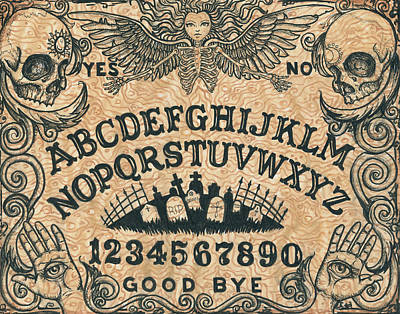 Haunting Drawing - Ouija Board by Shayne of the  Dead