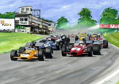 Painting - Oulton Park  F5000 by Steve Jones
