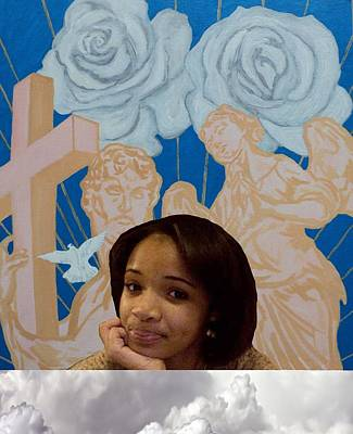 Painting - Our Angel Above by Angelo Thomas