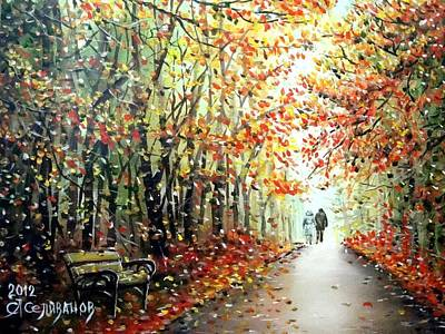 Painting - Our Autumn by Sergey Selivanov