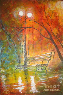 Painting - Our Banch... by Elena  Constantinescu