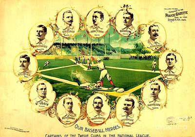 Our Baseball Heroes Art Print by Pg Reproductions