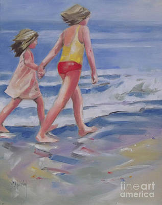 Our Beach Walk Original by Mary Hubley