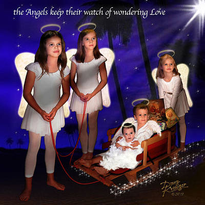 Digital Art - Our Christmas Angels by Doug Kreuger