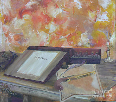 Painting - Our Fathers Wrighting Desk by Cheryl Damschen