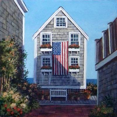 P Town Painting - Our Flag Was Still There by Candice Ronesi