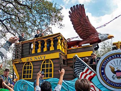 Parade Float Photograph - Our Float Floats by Steve Harrington