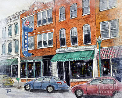 Historic Franklin Tennessee Painting - Our Franklin by Tim Ross