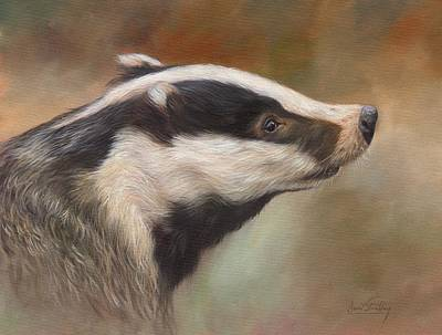 Thomas Kinkade Rights Managed Images - Our Friend The Badger Royalty-Free Image by David Stribbling