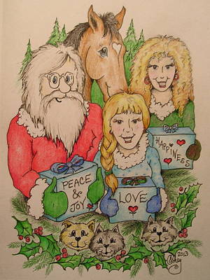 Smiling Jesus Drawing - Our Gifts by Catherine Howley