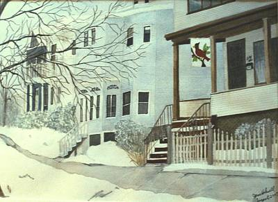 Painting - Our House In Medford by June Holwell