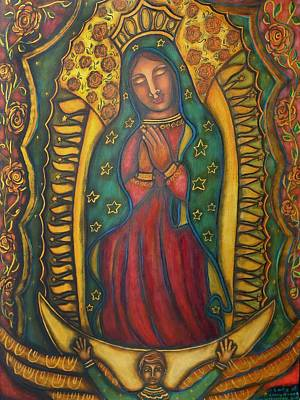 Sacred Art Painting - Our Lady Of Glistening Grace by Marie Howell Gallery