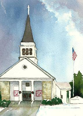 Painting - Our Lady Of Good Counsel West Boylston Ma  by Lynn Babineau