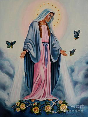 Painting - Our Lady Of Grace I by Lora Duguay