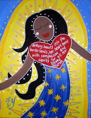 Painting - Our Lady Of Guadalupe by Angela Yarber