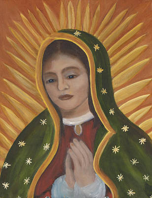 Gold Star Mother Painting - Our Lady Of Guadalupe by Angie Casias