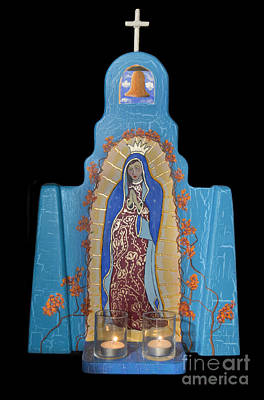 Retablo Mixed Media - Our Lady Of Guadalupe by Jerry McElroy