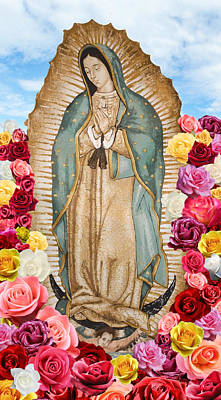 Our Lady Of Guadalupe Digital Art - Our Lady Of Guadalupe by Nancy Ingersoll