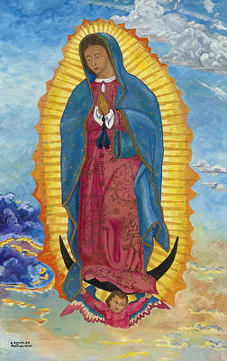 Painting - Our Lady Of Guadalupe-new Dawn by Mark Robbins