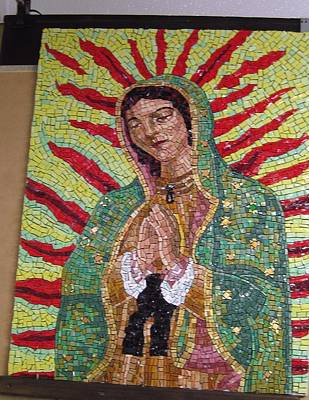 Glass Art - Our Lady Of Guadalupe by Patrick RANKIN