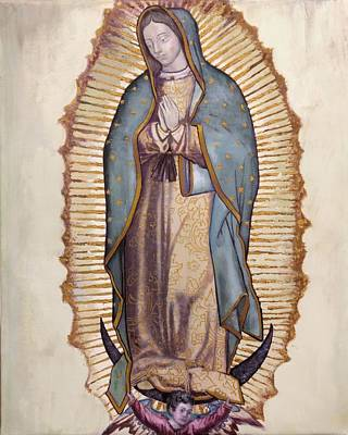 Blessed Virgin Painting - Our Lady Of Guadalupe by Richard Barone