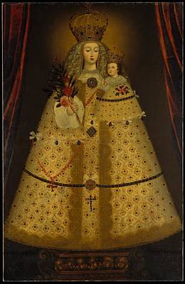 Peruvian Painting - Our Lady Of Gu�pulo by Peruvian