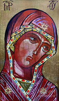 Russian Icon Painting - Our Lady Of Kazan IIi by Ryszard Sleczka