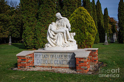 Photograph - Our Lady Of Lake Huron Catholic Cemetery by Grace Grogan