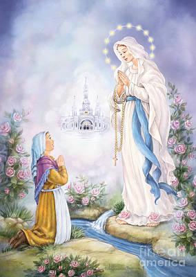 Digital Art - Our Lady Of Lourdes by Randy Wollenmann
