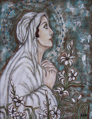 Our Lady Of Guadalupe Painting - Our Lady Of Mental Peace by Rain Ririn