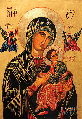 Child Jesus Painting - Our Lady Of Perpetual Help Icon II by Ryszard Sleczka