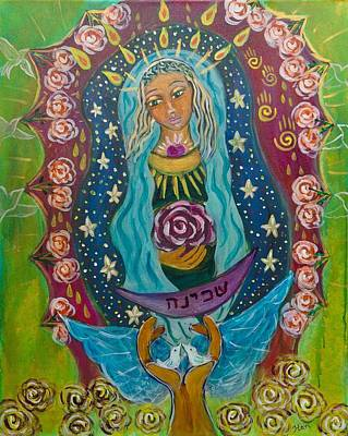 Shiloh Sophia Art Painting - Our Lady Of Rebirth And Renewal by Havi Mandell