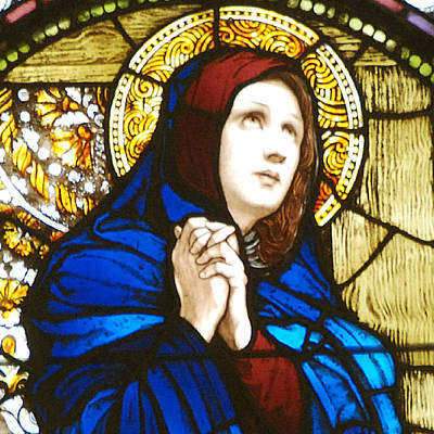 Dolores Photograph - Our Lady Of Sorrows In Stained Glass by Philip Ralley