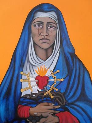 Virgen Mary Painting - Our Lady Of Sorrows by Jane Madrigal
