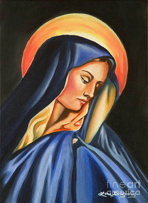 Painting - Our Lady Of Sorrows by Lora Duguay