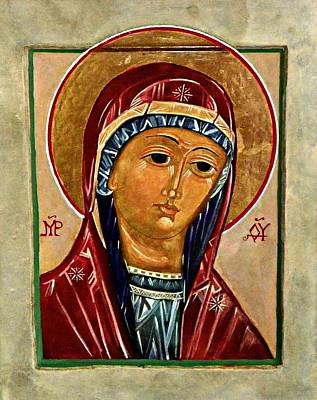 Egg Tempera Painting - Our Lady Of Springfield by Marcelle Bartolo-Abela
