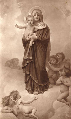 Cherubim Digital Art - Our Lady Of The Angels by William Bouguereau