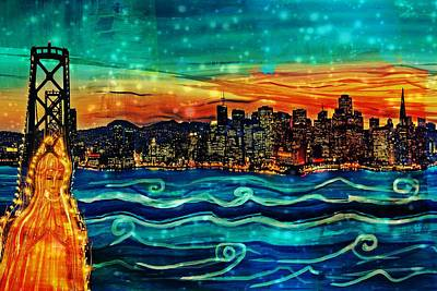 Bay Area Mixed Media - Our Lady Of The Bay by Michelle Dallocchio