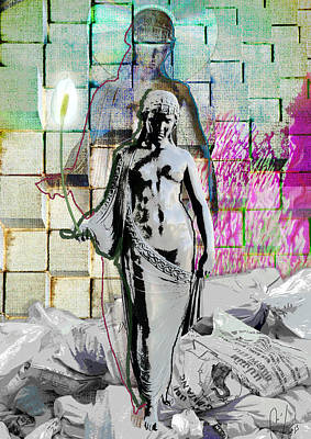 Rubbish Digital Art - Our Lady Of The Flowers by Maria Jesus Hernandez
