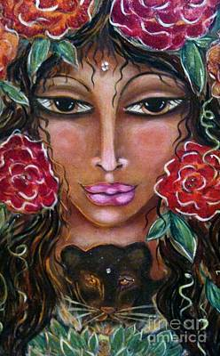 Painting - Our Lady Of The Lion Heart by Maya Telford