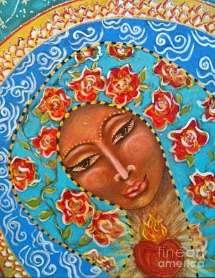Our Lady Of The Roses Art Print