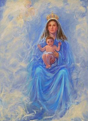 Queen Of Heaven Painting - Our Lady Of Victory by Beverly Klucher