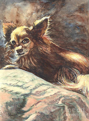 Painting - Chihuahua Angel by Carol Wisniewski