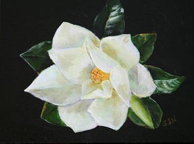 Our Magnolia Art Print by Sandra Nardone